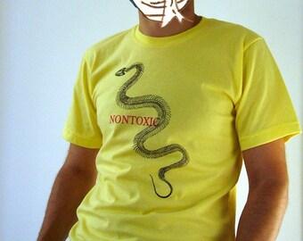 SNAKE NONTOXIC SHIRT for men - lemon