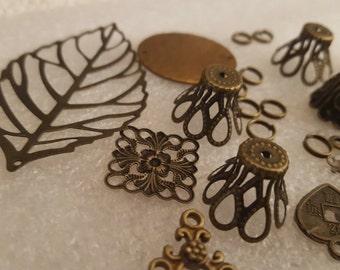 Bronze antique or ton composants Destash