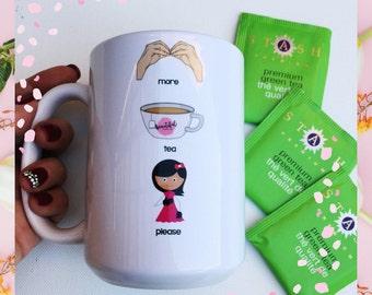 More Tea Please AAC Like a Boss Mug