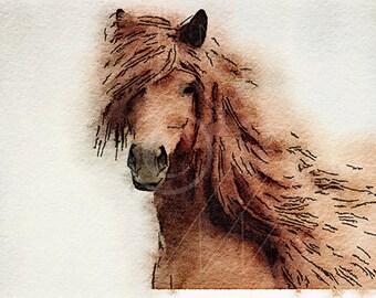 Printable Art, Instant Download Printable Art, DIY Print At Home, Instant Download, Art Print, Horse