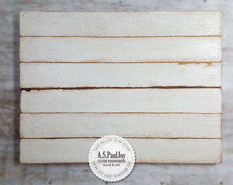 Distressed White Painted Pallet Blank Pallet Sign Wooden Photo Surface, Food Styling Board Photography Prop, Pallet Canvas, Pallet Wall Art
