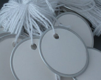 Round Metal Rimmed Tags, 1 9/16 Round Metal Rimmed Tags, Round Paper Tags