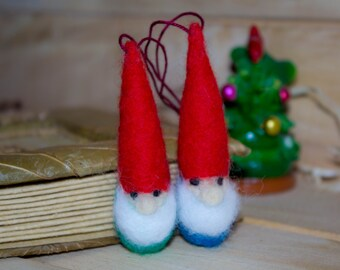 SALE SALE SALE Gnomes. Christmas ornament Gnomes - Waldorf Inspired. Set of 2