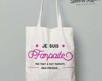 Shopping bag I'm farpaite in fair trade cotton