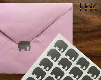 30x / 60x / 90x  elephant stickers / envelope decals / party decoration / glass decor  envelope seals  s011
