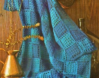 Afghan Crochet Pattern, Two Tone Block Crochet Afghan Pattern, Motif Crochet, PDF INSTANT Download Pattern (1039)