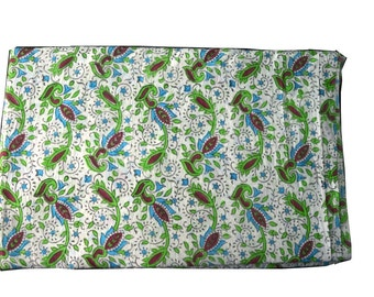 1 to 50 Yards(Print_205)Indian Block Printed 100% Cotton  Printed Fabric