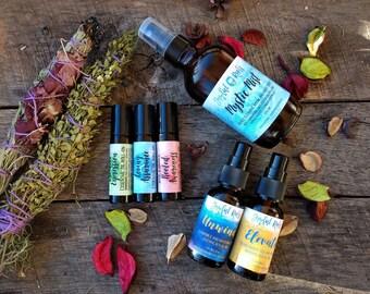 Spiritual Gifts, The Ascension Kit, Botanical Wellness, Natural Skincare, Ritual Oils, Face Oils, Chakra Oils, Smudge Spray, Aromatherapy