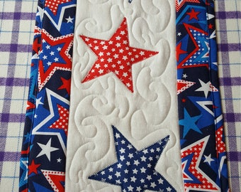 Beautiful handmade Quilted 4th of July Table Runner