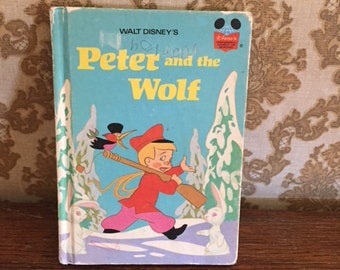 1974 Peter and the Wolf Hard Cover Book