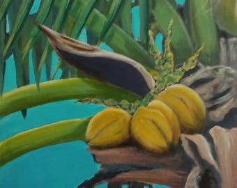 abstract Coconut Palm painting