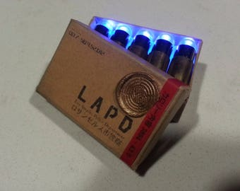 Blade Runner PKD Blaster Prop Ammo Box w/LUMI-SHOK rounds Deckard cosplay light-up cartridges replicant underworld ultraviolet uv Tomenosuke