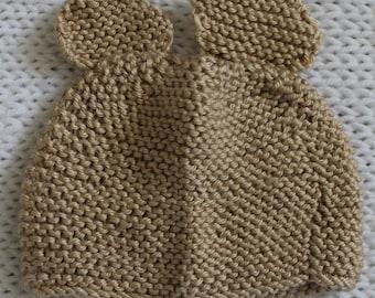 Newborn Baby Bear Hat