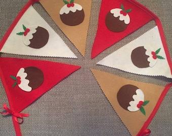 Christmas Pudding Bunting