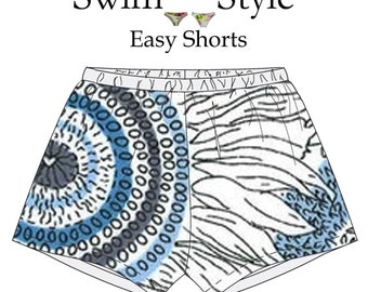 Easy Beach shorts sewing pattern for Women