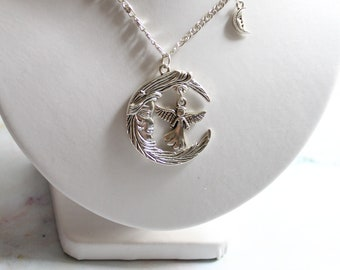 """Necklace """"The Angel of the Moon"""" and the chain."""