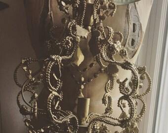 Gold Elegant Beaded Chandelier
