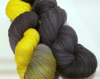 Lemony Pair on Squishysock MCN fingering weight yarn