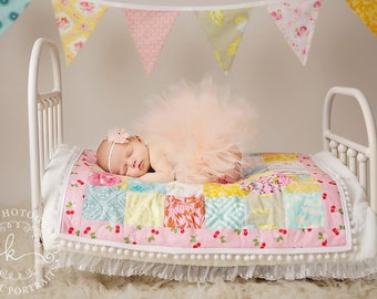 Newborn Tutu, Newborn Tutu Set, Tutu Set, Baby Tutu, Peach Tutu, Tutu and Headband, Photo Prop, Baby Tutu Set