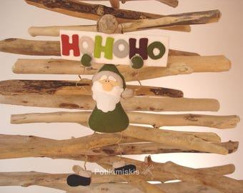 Filz Kugel aus Filz, Santa Claus, Weihnachtsmann, Weihnachten, Handwerk, Dekoration, Christmas Ornament
