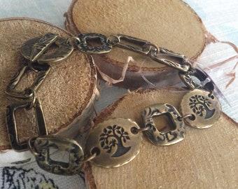 Antique Brasss Tierracast Links Bracelet