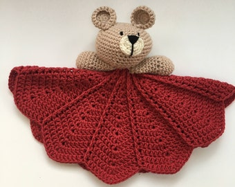 Teddy Bear Baby Lovey Blanket
