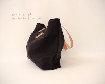 CANVAS Tote... CLASSIC BLACK tote bag