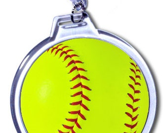 Girls Softball Bag Tag - Personalized - 2 Size Choices