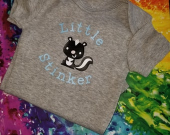 Little Stinker Bodysuit, skunk, baby