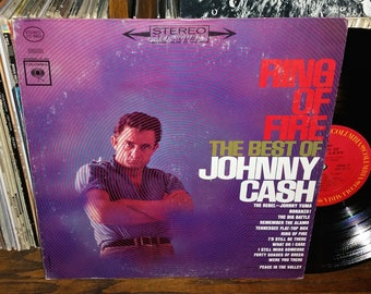 Johnny Cash Ring of Fire The Best of Vintage Vinyl Record