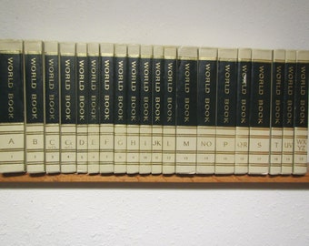 1968 Complete set of 20 WORLD BOOK ENCYCLOPEDIAS A thru Z * reference books