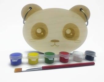 Kids Gift, Panda Book, Wood Children's Book, Wood Kids Book, Baby Present, Laser Cut Book, Wood Animal Book, Unique Baby Gift, Kids Birthday