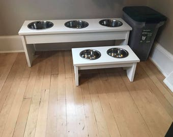 Customized Wooden Dog Bowl Stand
