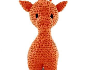 Bright orange giraffe maxigurumi Kit