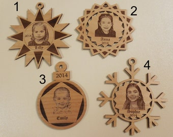 Photo Christmas Ornaments - Laser Engraved Christmas Ornaments