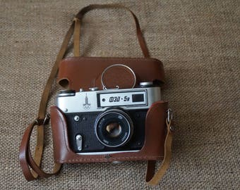 Old cameras Working camera Soviet camera USSR Original Made in USSR Photo camera Gift for him Rare collectibles Black camera Soviet Camera