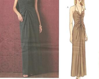 Vogue 2722 / Designer Sewing Pattern By Oscar de la Renta / Dress Gown / Sizes 8 10 12