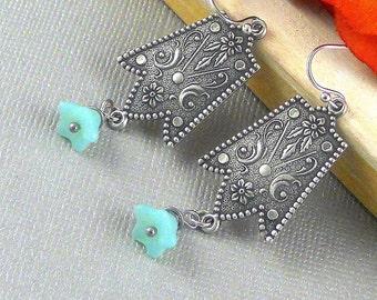 Earrings,Silver Earrings,Antique,Vintage Style,Wedding,Antique Earrings,Boho Earring, Dangle Drop Earring,Moroccan Earring