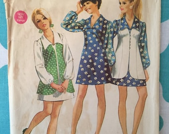 Vintage 1970s Simplicity 8710 Size 13/14 Bust 33 1/2 - Vintage Simplicity / 70s Simplicity / 70s Pattern