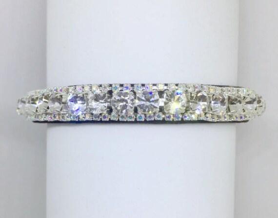 Cutie Pie Pet Collars TM ~Diamond Fire~ Crystal Diamond Diamante Rhinestone Pet Dog Cat Black VELVET Collar + Free Charm  USA
