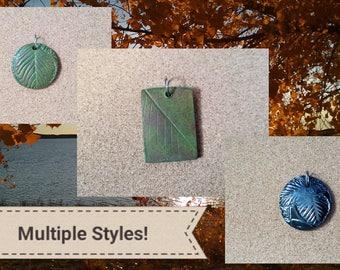 Ceramic Leaf Pendants