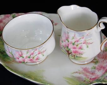 Charming Royal Albert Blossom time cream and sugar Set