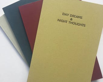 Night/Day Handbound Letterpress Notebook