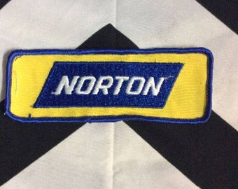 Embroidered Patch  Norton Logo  Rectangle Shape