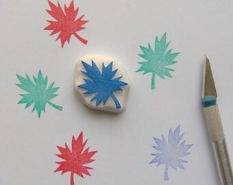 Maple leaf stamp, Maple leaf rubber stamp, leaf stamp, autumn stamp, woodland stamp, thanksgiving stamp, christmas stamp, scrapbooking, diy