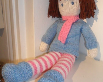 Rag Doll Knitting Pattern pdf - Instant Download