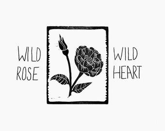 Block Print / Wild Rose