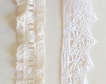 """2-1/2"""" Ribbon Threaded Lace"""