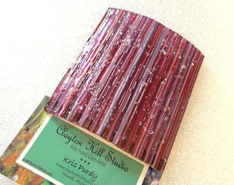 Fused Glass Night Light - Reds & Purples