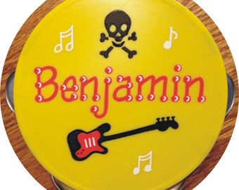 """CUSTOM for CORCORAN Personalized Tambourine  5"""" Personalized and Gift Wrapped"""
